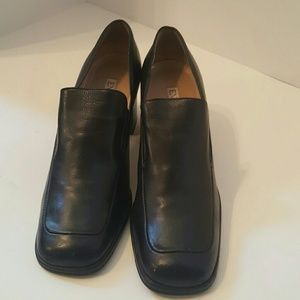 Enzo Angiolini  Black Leather Loafers sz 8.5M
